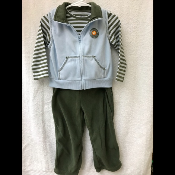 73d8032f9 Carter's Matching Sets   Carters Olive And Blue Onesie Vest And ...